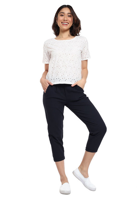 Eyelet Lace Top by Glamour Studio