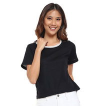 Short Sleeve Top with Lace Trims by Glamour Studio