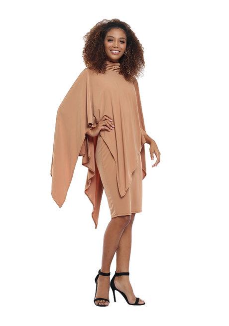 Anisha High Neck Overlay Dress by Frassino Collezione