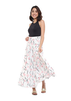 Alicia Floral Maxi Skirt by Frassino Collezione