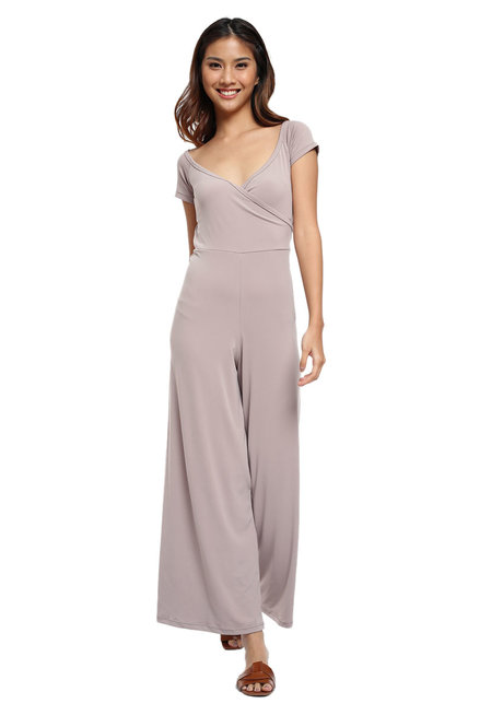 April Off Shoulder Jumpsuit by Frassino Collezione