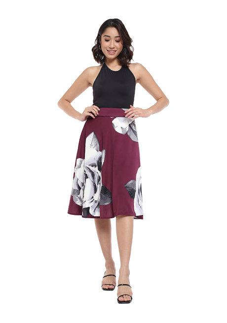 Alisha Floral Midi Skirt by Frassino Collezione