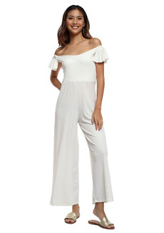 Brenda Off Shoulder Jumpsuit by Frassino Collezione