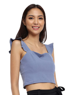 Ruffle Trim Top by Tansshop
