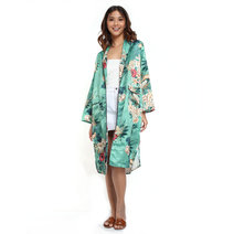 Green Floral Kimono by Pink Lemon Wear