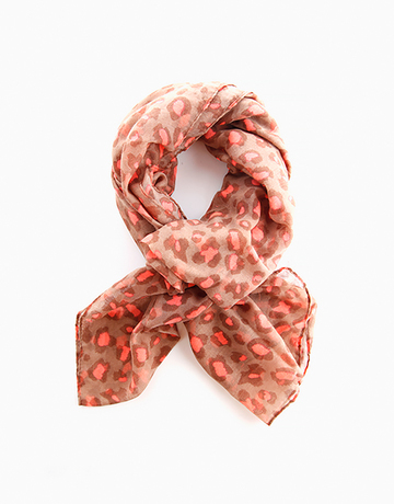 Neon Animal Print Scarf by Luxe Studio