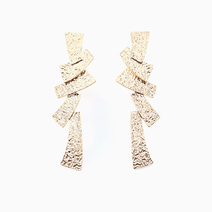 Hammered Geometric Earrings by Luxe Studio