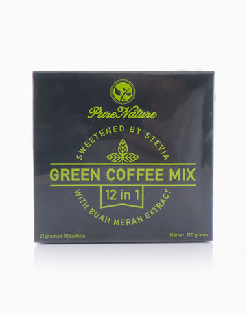 12-in-1 Green Coffee Mix (10 Sachets) by Pure Nature