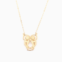 Owl Outline Necklace by Luxe Studio