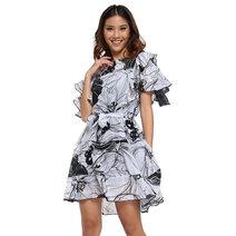 Jimena Ruffle Dress by Chelsea