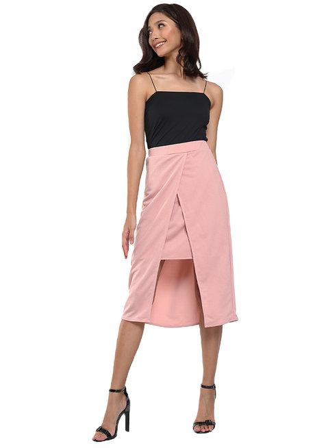 Naiara Slit Pencil Skirt by Chelsea