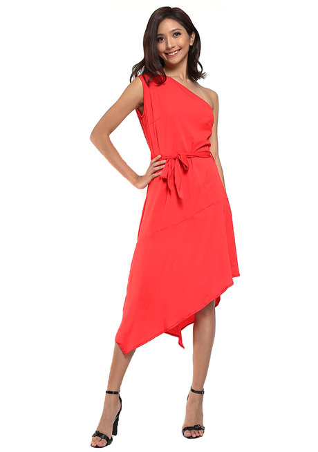 Flor One-Shoulder Cocktail Dress by Chelsea