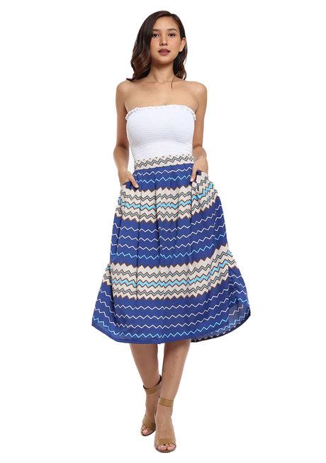 Loretta Pleated Midi Skirt by Chelsea