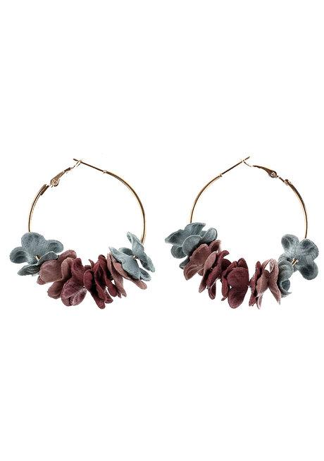 Brilliant Rose Hoop Earrings by Moxie PH