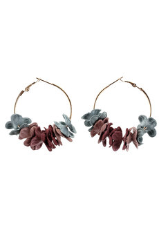 Brilliant Rose Hoop Earrings