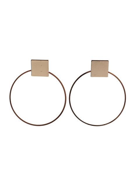 Onyx Hoop Earrings by Moxie PH