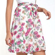 Jovena Knee-Length Swing Skirt by Chelsea