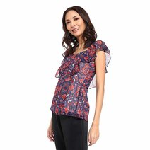 Fausta Flounce Sleeves Top by Chelsea