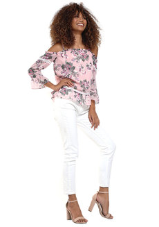 Madia Ruffle Cold-Shoulder Top by Chelsea