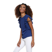 Jesusa Ruffled Sleeves Top by Chelsea