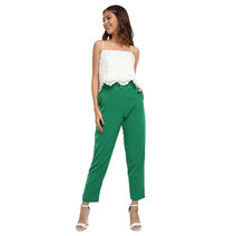 Marta Ruffle Cigarette Pants by Chelsea
