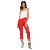 Malaya Ruffle Cigarette Pants by Chelsea