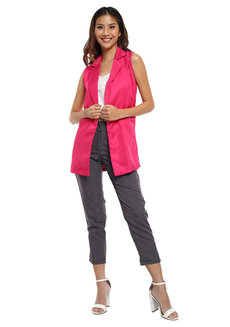 Malita Sleeveless Long Blazer by Chelsea