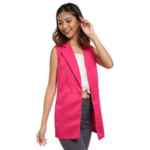 Malita Sleeveless Long Blazer by Chelsea