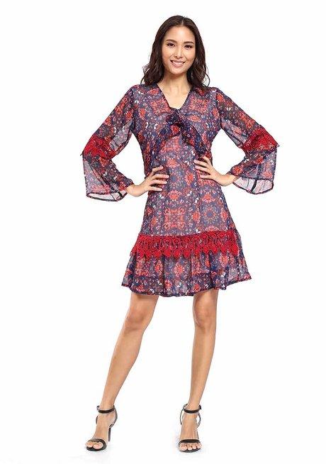 Lavinia Ruffle Shift Dress by Chelsea