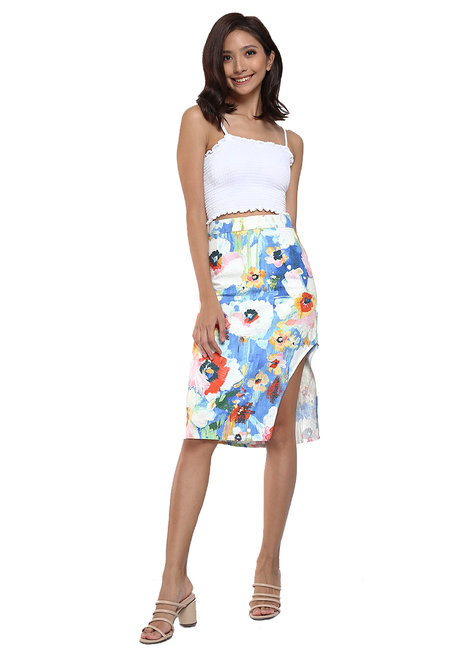 Lalia Slide Slit Pencil Skirt by Chelsea