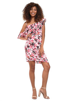 Joaquina Asymmetrical Ruffle Dress by Chelsea