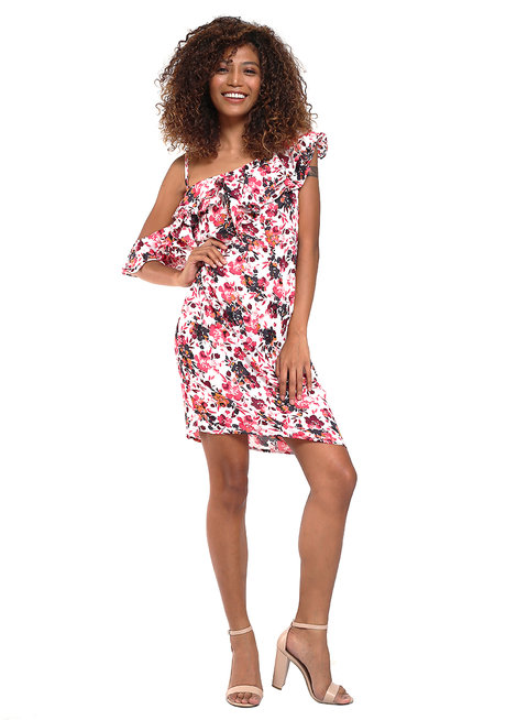 Joaquina Asymmetrical Ruffle Dress by Chelsea