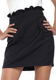Lupita Ruffle Pencil Skirt by Chelsea