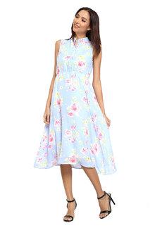 Esperanza Mandarin Collar Dress by Chelsea