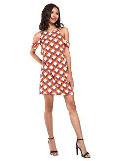 Adriana Cold Shoulder Halter Dress by Chelsea