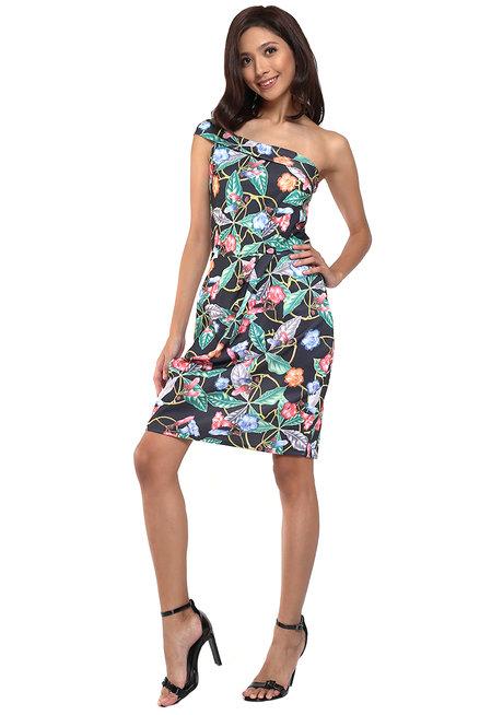 Dorinda One Shoulder Bodycon Dress by Chelsea