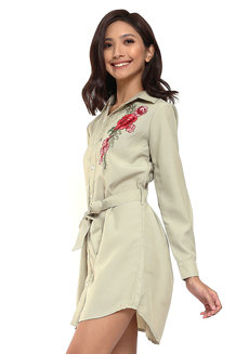 Enriqueta Embroidered Long Sleeves Dress by Chelsea