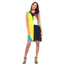 Immaculada Contrast Shift Dress by Chelsea