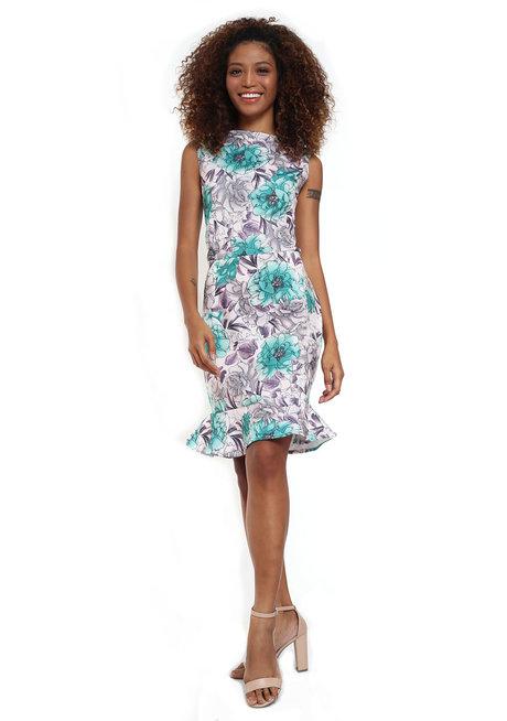Dorotea Sleeveless Flounce Dress by Chelsea