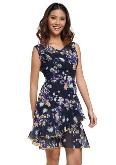 Mireya Sleeveless Flounce Dress by Chelsea
