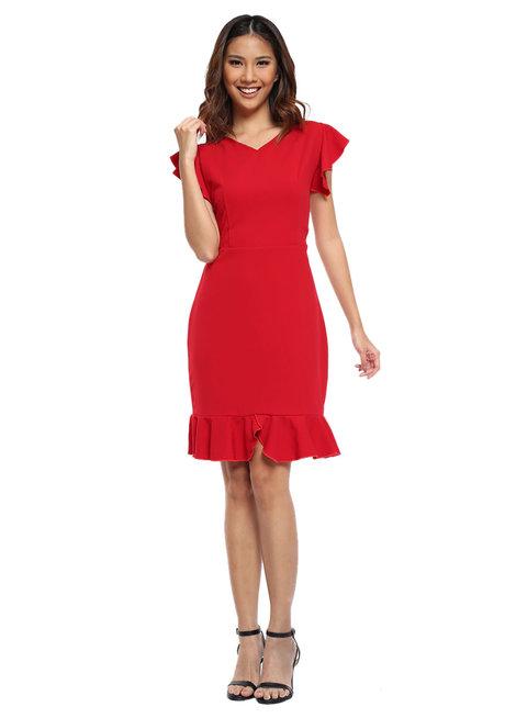 Nerita Flounce Dress by Chelsea