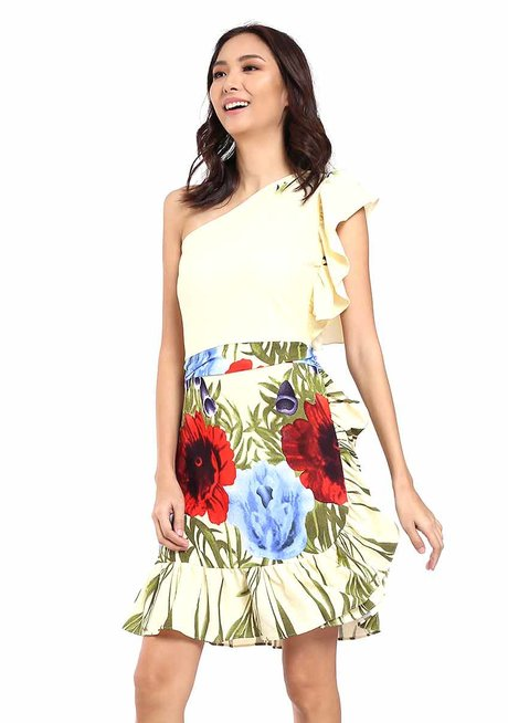Laura Ruffle One-Shoulder Dress by Chelsea