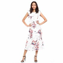 Erlene Ruffle Midi Dress by Chelsea