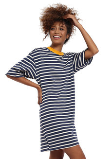 Lazy Stripe Shirt Dress by Lazy Fare