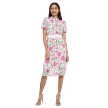 Florita Mandarin Short Sleeves Dress by Chelsea
