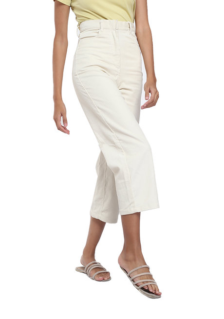 Dax High-waisted Cropped Wide Leg Pants by Loukha