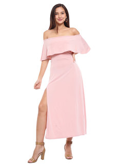 Ariel Off Shoulder Maxi Dress by Frassino Collezione