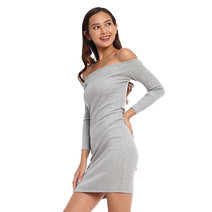 Jessy Offshoulder Ribbed Dress by Mishia Clothing