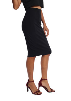 Kierra Ribbed Pencil Skirt by Mishia Clothing