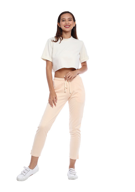 The Cotton Drawstring Pants by Straightforward